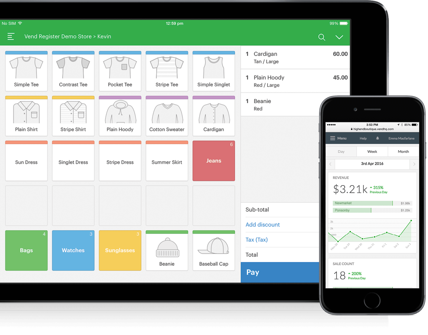 iPad point of sale software from Vend
