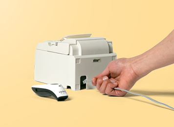 Plugging in a receipt printer for retail store