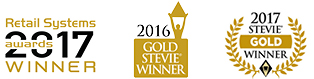 Stevie awards 2015, 2016 and 2017 for Vend POS