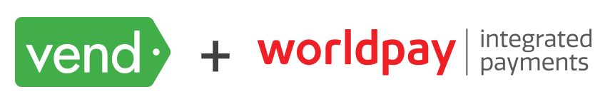 Vend plus Worldpay logos