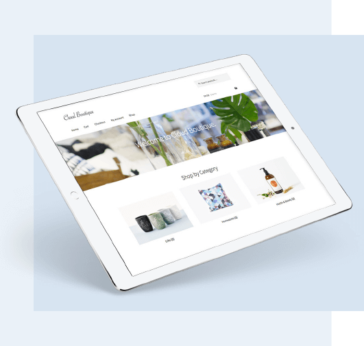 WooCommerce store on Tablet