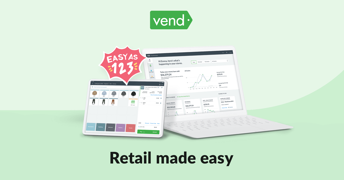 Choose The World S Best Retail Pos Software Vend Pos Systems